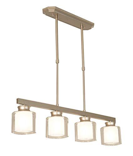 4 lampadari leggeri moderno trasparente a doppio strato vetro illuminazione a sospensione in lega zinco sala pranzo apparecchi di illuminazione appesa lampada contemporanea a incasso plafoniere