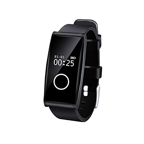 KTTZIP Activity Tracker con monitoraggio della frequenza cardiaca Smart Watch Donna Uomo Bambini Impermeabile Contapassi Cronometro per,Black