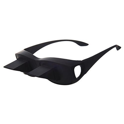 Denshine Gafas de prisma para usuarios de gafas Gafas para la Cama Lectura, TV y ordenador - Diseno innovador