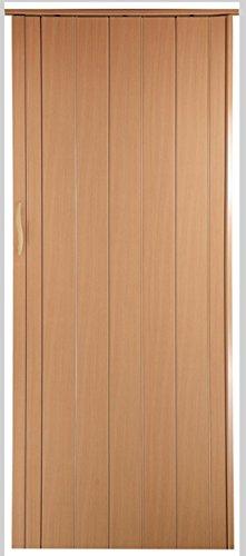 Falttür Schiebetür Tür buche farben mit Schloß / Verriegelung Höhe 202 cm Einbaubreite bis 85 cm Doppelwandprofil Neu