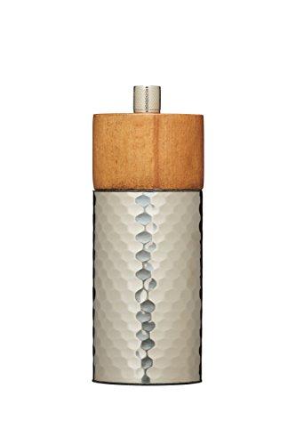 Kitchen Craft Master Class Pfeffermühle aus gehämmertem Edelstahl,14,5 cm, edelstahl, metallisch, 5.6 x 4.2 x 14.7 cm