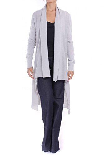 ANTA Q'ULQI - Cardigan asimmetrico a maglia con alpaca - grigio, S