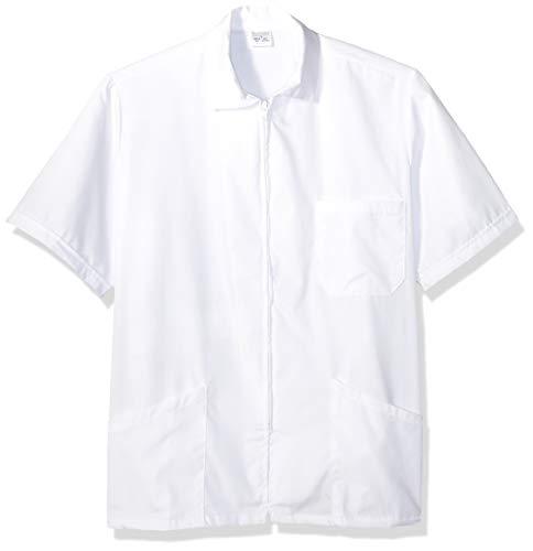 Fashion Seal Healthcare Erwachsene Unisex Zip Front Lab Shirt W Krankenhauskleidung, weiß, XXX-Large - Zip-front-lab