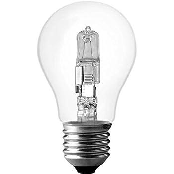 2 x Philips EcoClassic  53W  240V B22  Clear Halogen GLS Light Bulb Lamp Job Lot