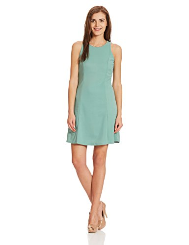 Deal Jeans Women's A-Line Dress (20451_Green_Medium)