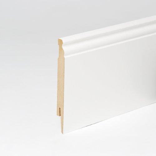 25m Sockelleisten Berliner Profil 150mm All Inclusive Paket Weiß