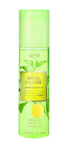 4711 Acqua Colonia Lemon and Ginger unisex, Bodyspray, Vaporisateur/Spray 75 ml, 1er Pack (1 x 0.272 kg) -