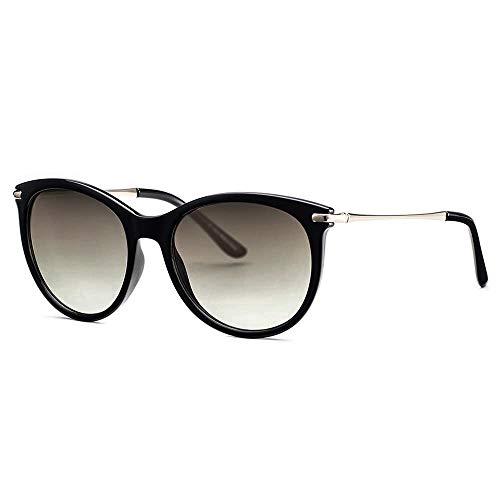 Avoalre Vintage Damen Sonnenbrille Herren Retro Stylische Brille mit Metallbügeln Verlaufsglas Übergroße 100% UV400 Schutz für Autofahren Reisen Party und Freizeit (klassisch Grau)