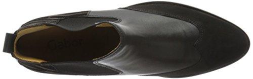 Gabor Shoes 55.694 Damen Kurzschaft Stiefel Mehrfarbig (schw/Anthrazit(Ldf 59)