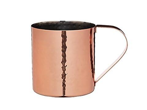 Bar Craft Luxe Lounge 550ml Inox Martelé Moscow Mule Mug, Cuivre