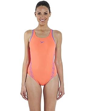 Speedo 8-08733A26528 - Traje de baño, color Naranja (Siren/African Violet), talla UK: Talla 28