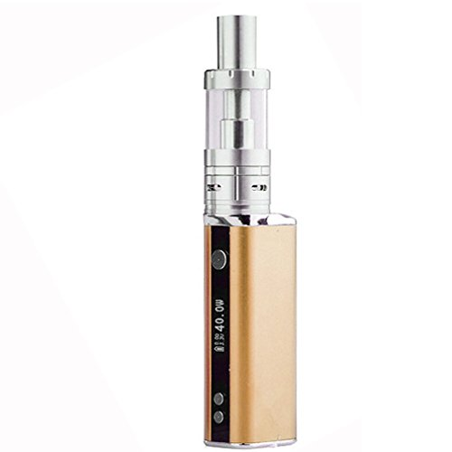 SZYSD Sigarette Elettroniche 40W 2200mAh Batteria + Arctic Atomizzatore Sub Ohm Tank 0,5 Ohm OCC Vaporizzatore, OLED Box Mod con VV / funzione di VW, No Liquido No Nicotina (d'oro)