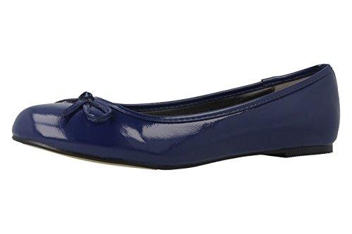 Bild von Andres Machado - Damen Ballerinas - Lack Blau Schuhe in Übergrößen