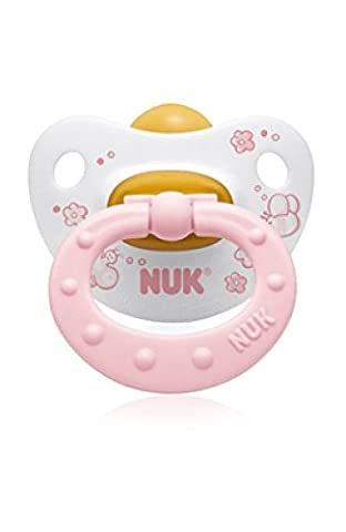 Nuk - Physiological Dummies (Set of 2) with Ventilation Openings - Latex - Size 2 (6-18 Months) - Pink