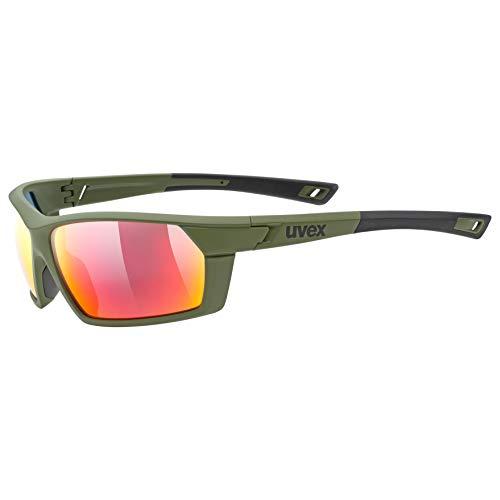 Uvex Erwachsene Sportstyle 225 Sportbrille, Olive, One Size