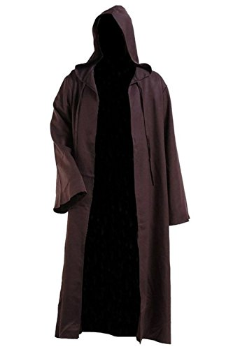 Hommes Hooded Robe Cape Chevalier Fantaisie cosplay costume adulte EU Taille