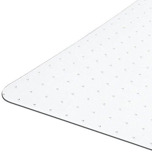 Floordirekt PRO - 9 Größen zur Wahl - Polycarbonat Bodenschutzmatte transparent für Teppich und Teppichböden(90x120 cm) - Platt Teppich