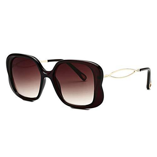 zhengzhousushezhangshigongcheng Klassische quadratische Sonnenbrille mit Farbverlauf für Damen mit hohlem Bein Gr. Einheitsgröße, C2