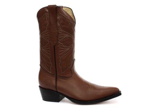 Grinders Dallas Damen Cowboy Stiefel, Beige, Größe 37