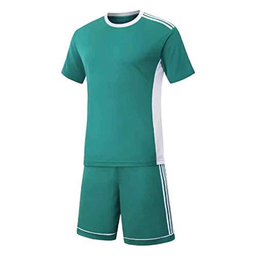 MUCHAO Herren Fußball Fußball Sport Schiedsrichter Wettbewerb Trainingsanzug Hemd Uniform Jersey Kostüm Kurze Ärmel und für Sport (Schiedsrichter Kostüm Junge)