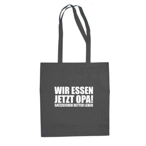 Planet Nerd Satzzeichen retten Leben - Stofftasche/Beutel, Farbe: grau (Nerd-leben)