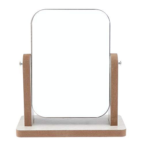 IPOTCH Espejo Cosmético Espejos de Sobremesa de Belleza Gira 360 Grados - Pequeña