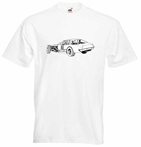 T-Shirt D750 T-Shirt Herren schwarz mit farbigem Brustaufdruck - Design Tribal Comic / Auto Tunning / Nascar Rennwagen Crashcar Mehrfarbig