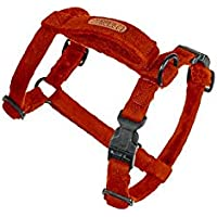 PetWale Cotton Adjustable Dog H-Harness (Red, Small)