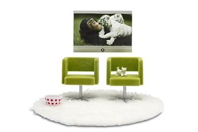 Lundby 60.9028.00 Stockholm - Se de televisor y sillones para casita de muñecas de Lundby