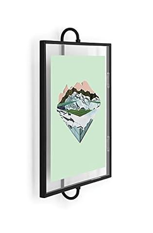 Umbra 1005428-040 Phantom Photo Display, Wandbilderrahmen aus Metall, Schwarz,