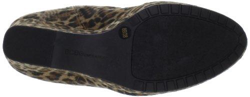BCBGeneration Vance 2 Damen Rund Wildleder Booties Schuhe Neu/Display Sesame/Black Leopard