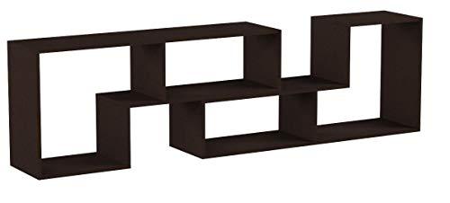 DEVAISE Multifunctional Hölzernen TV-Lowboard, Bücherregal, TV Schrank; 15mm Dicke, Dunkle Eiche