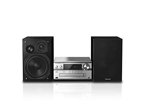 Panasonic SC-PMX94EG-S Micro HiFi System (120 W RMS, Digital DAB+, CD, UKW , Bluetooth, USB, AUX) silber