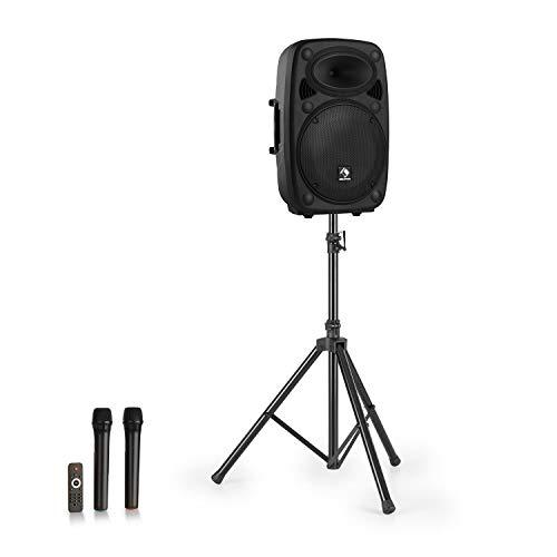 "auna Streetstar 12 Mobile PA-Anlage & Stativ - 12"" (30,5 cm) Subwoofer, 800 Watt max, LED-Display, XMR Bass Technology, Bluetooth-Funktion, USB-Port, SD, MP3, Line-Out, AUX, schwarz"