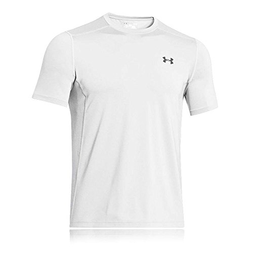 Under armour, ua raid ss, maglietta a maniche corte, uomo, bianco (white/white/steel 100), xl