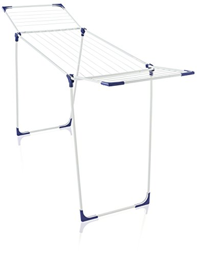 Leifheit Standtrockner Classic 180 Solid standfester Wäscheständer mit 18m Trockenlänge für 2 Waschmaschinenladungen, für drinnen & draußen, mit Flügeln für lange Wäsche, platzsparender Wäschetrockner