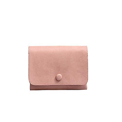 SuperSU Damen Mode Weich Leder Geldbörse Einfach klein Portemonnaie Einfarbig Falten mit Schnalle Kurz Geldbeutel,Portmonee Multi-Card-Bit Geldtasche Damengeldbörse Brieftasche - Mikrofaser-wallet-karte