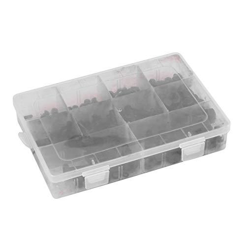 240 Stück Sechskantmutter und Schraubensatz mit Aufbewahrungsbehälter Durable Startseite Fasteners Tragbare Waschmaschine Sperre Sortiment Set