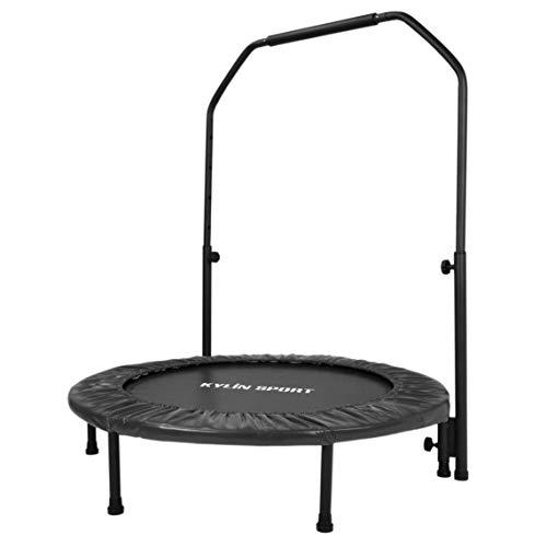 Kylin Deporte trampolín de Fitness Plegable trampolín de Gym ø100cm energía hasta 100kg para niño o Adulto trampolín de Interior o la Exterieur, Negro