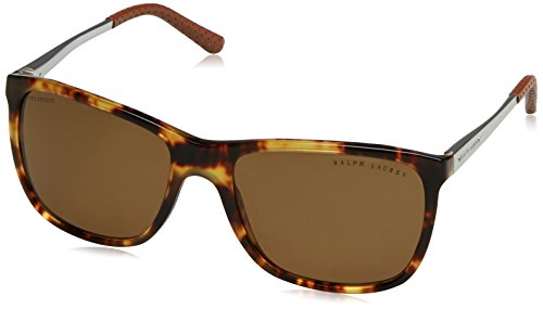 Ralph Lauren Herren RL8133Q Sonnenbrille, Braun (Havana 535183), One size (Herstellergröße: 57)