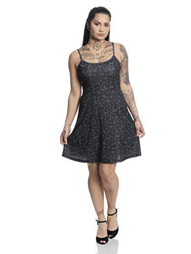 Christmas Jack Dots Kleid schwarz Allover, Größe:S ()
