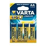 VARTA LONGLIFE EXTRA MIGNON AA - 156.01.35 - Bliester 4 Stück - für Fernbedienungen, Rauchmeldern, Wanduhren, Taschenrechner, elektronischen Waagen. u.v.a. -