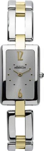 Michel Herbelin 17466/BT12 - Reloj analógico para mujer, correa de acero inoxidable multicolor