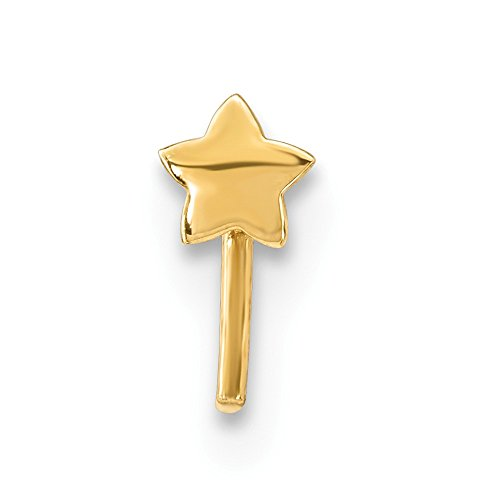 14K Yellow Gold Star Nose Stud (Star Nose Gold Stud)