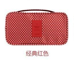GUJJ Hochwertiger Reise Unterwäsche BH-Portable Eitelkeit Paket, das Klassische Rot - Klassische Eitelkeit