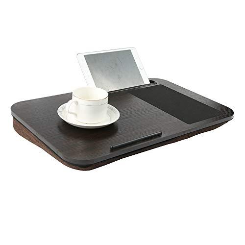 WZFC Ergonomisch Notebook Laptop Ständer Tisch Bett Frühstück Tablett,Tragbare Notebooktisch für Sofa,belüftet, verstellbar -
