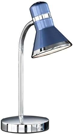 honsel 59821 lampe de bureau chrome bleu luminaires et eclairage. Black Bedroom Furniture Sets. Home Design Ideas
