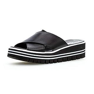 Gabor 23.620 Damen ClogsPantoletten,Clogs&Pantoletten, Frauen,Pantolette,Hausschuh,Pantoffel,Slipper,Slides,Best Fitting,schwarz,5.5 UK