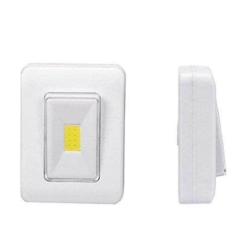 HKFV LED-Nachtlicht COB LED Cordless Switch Wandleuchte Batterie betrieben unter Kabinett COB LED Schalter Nachtlicht Stromquelle: 2 * AAA (Batterie Betrieben Kabinett-beleuchtung)
