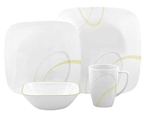 corelle-service-de-vaisselle-pour-4-personnes-16-pieces-en-verre-vitrelle-motif-lignes-modernes-jaun